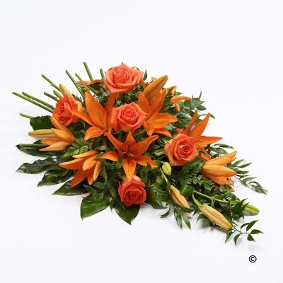 Rose and Lily Spray   Orange *