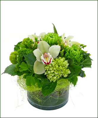glass cube table arrangement 102