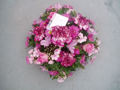 Posy Tribute  2   Deep pinks and white