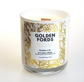 Luxury Scented Candle   Golden Fords   Made Locally